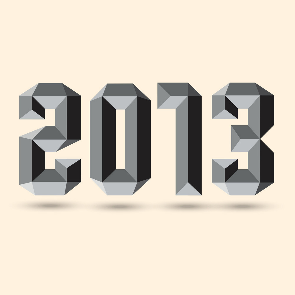 New 2013 Year 3d Figures