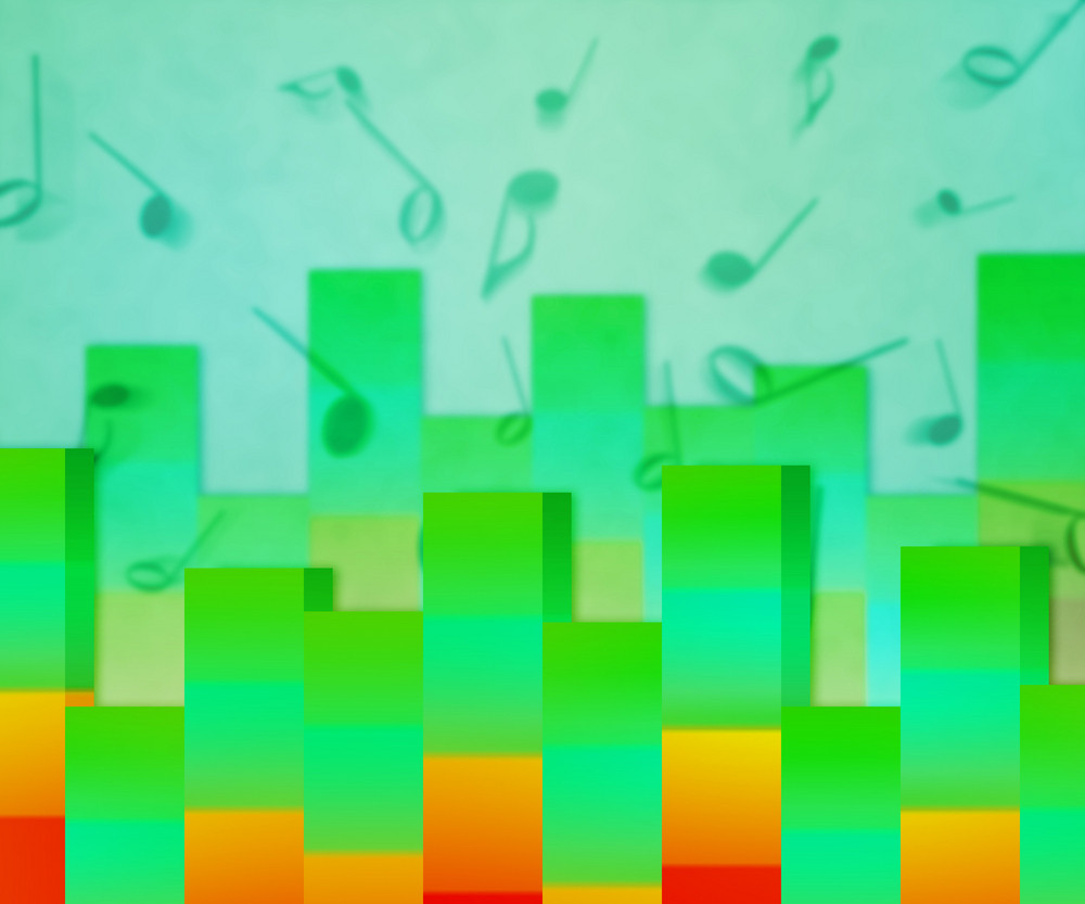 New Musical Green Background