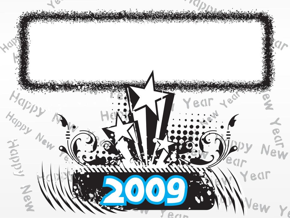 New Year 2009 Greeting Pattern