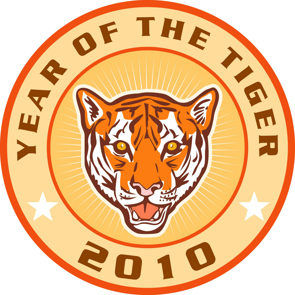 New Year 2010 Year Of The Tiger Icon
