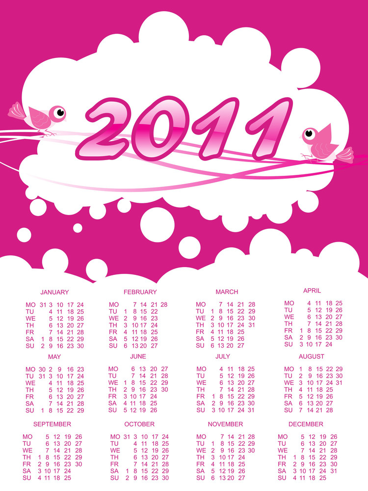 New Year 2011 Calendar