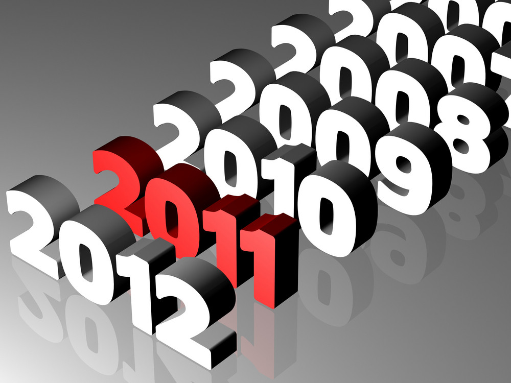 New Year 2011 Concept