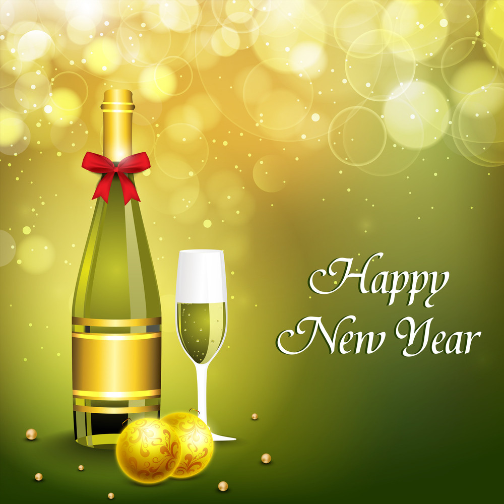 new year champagne background