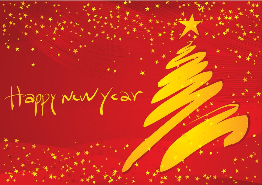 New Year Decoration. Vector Illustration.