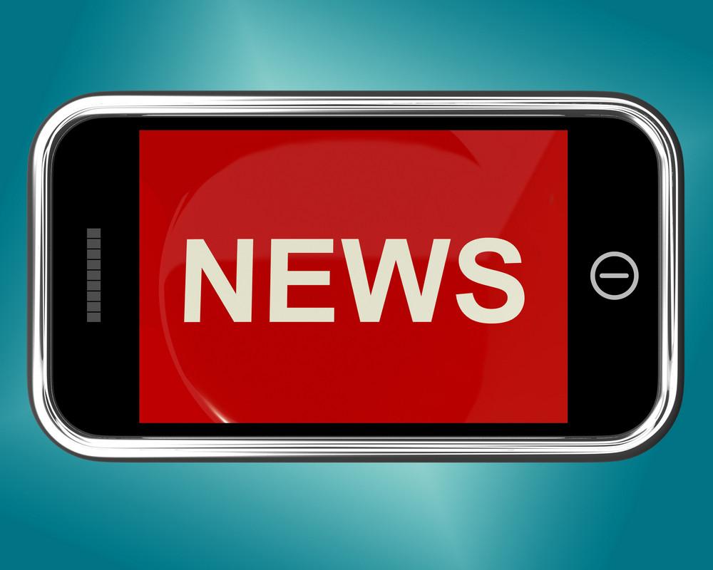 News Headline On Mobile For Online Information Or Media