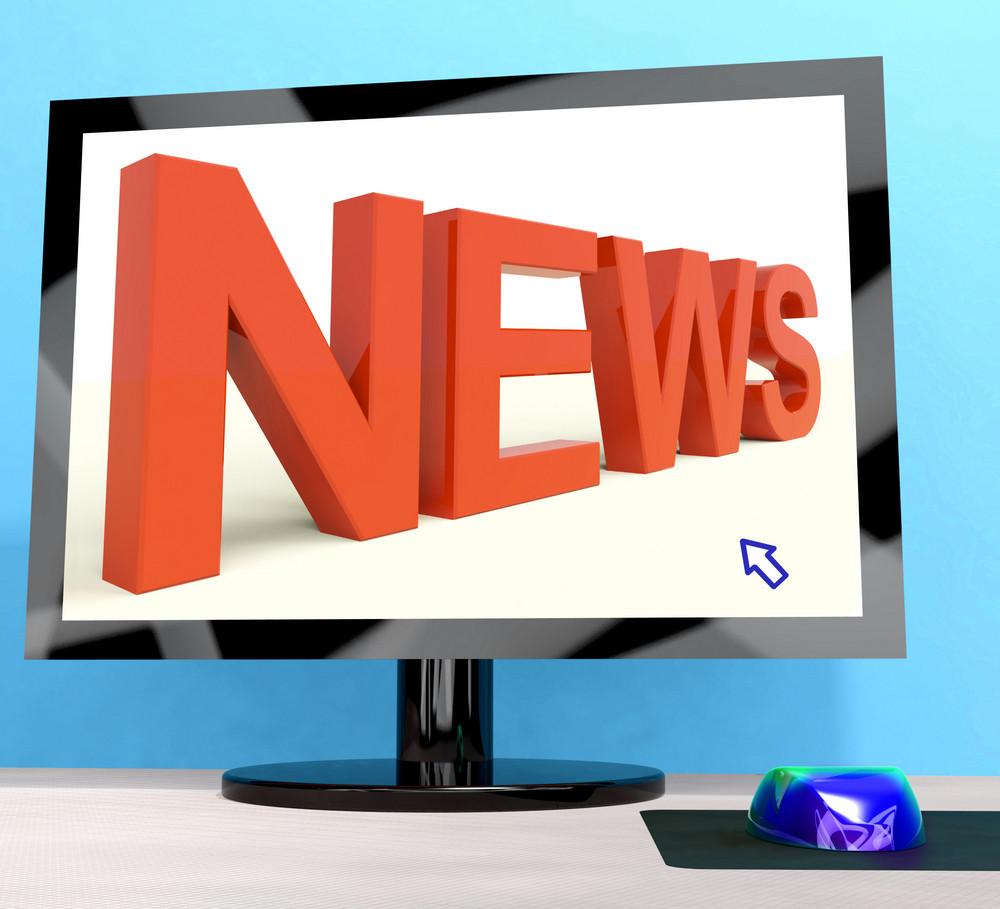 News Word On Computer Shows Media And Information