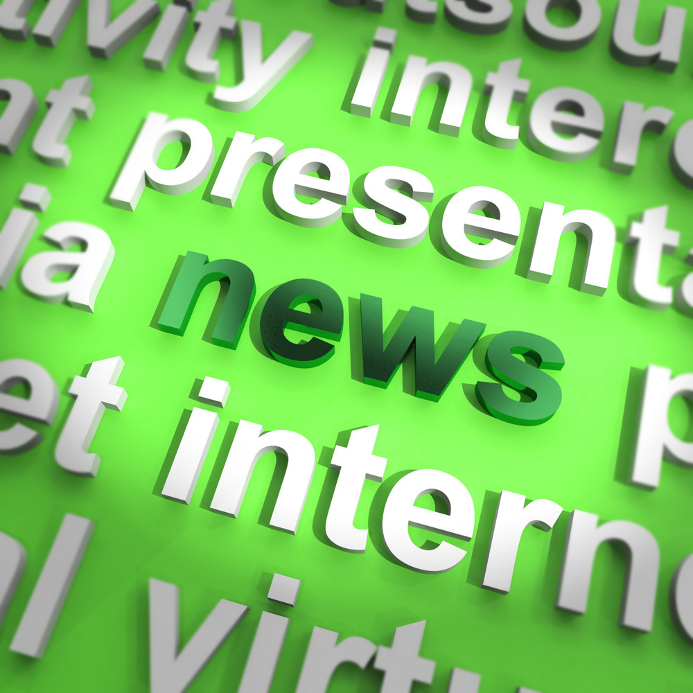 News Word Showing Media Journalism And Information