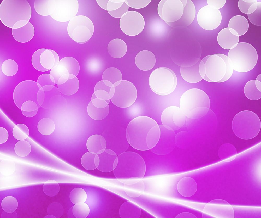 Nice Violet Winter Bokeh Background