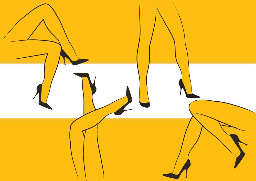 Night Club Legs. Vector Illustration.