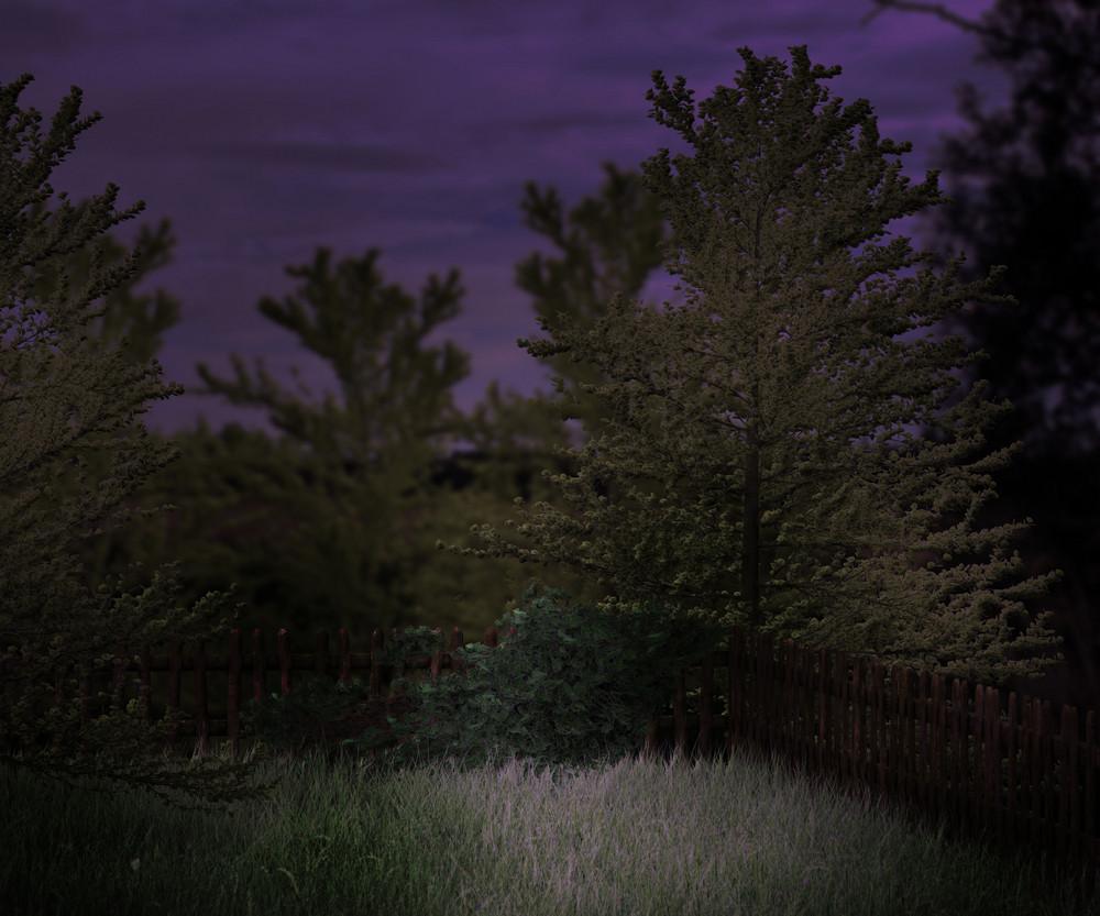 Night Garden Premade Background