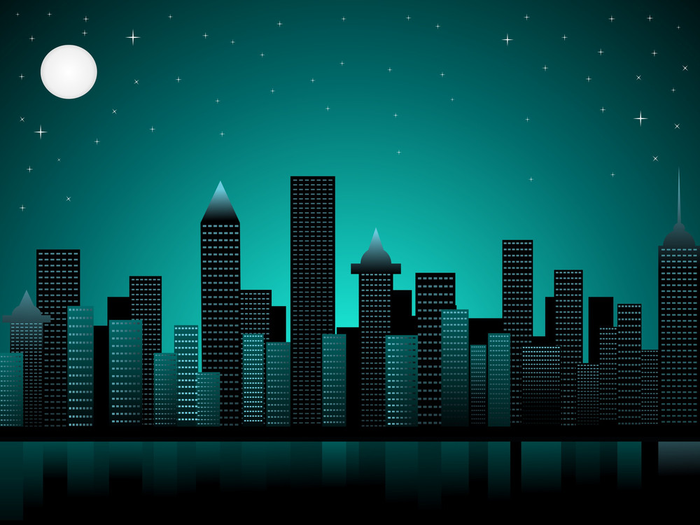 Night Time Business Concept Background