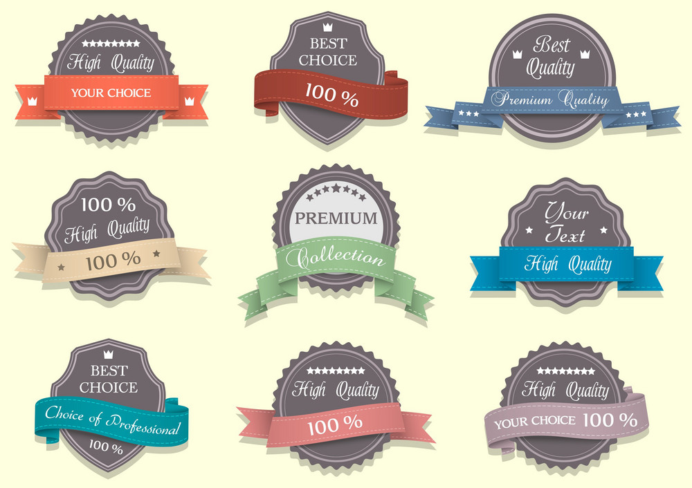 Nine Premium Quality Labels