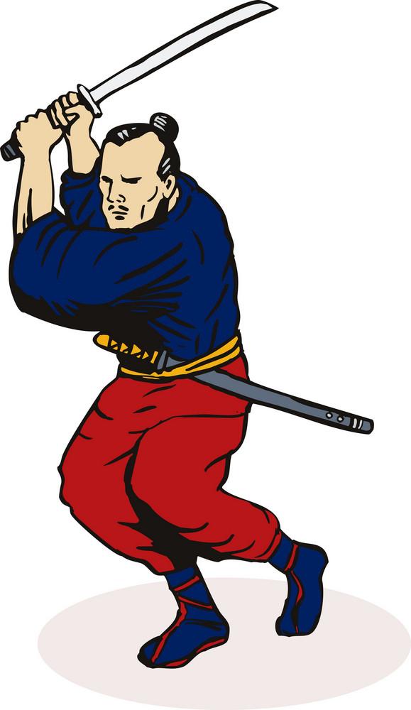 Ninja Fighting Attacking