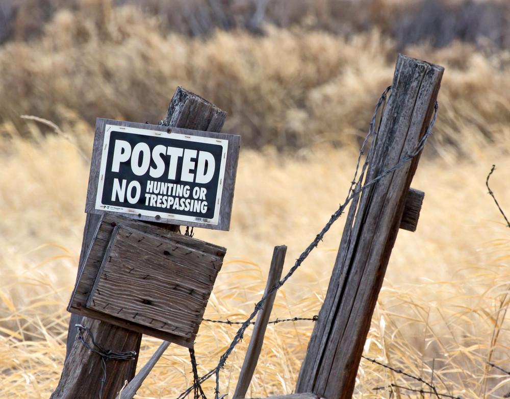No Hunting Signboard
