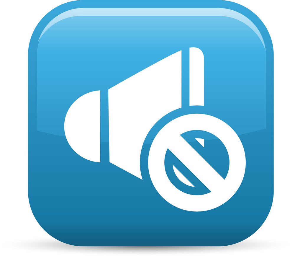 No Sound Elements Glossy Icon