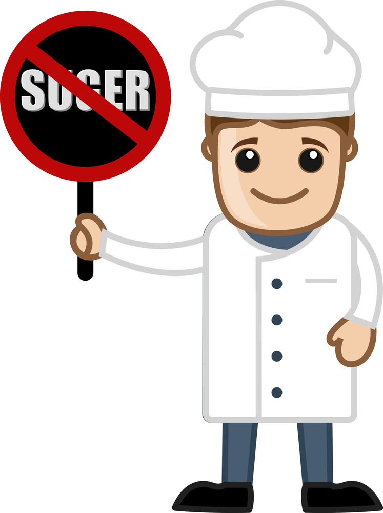 No Sugar Allowed In Recipes - Cartoon Vector
