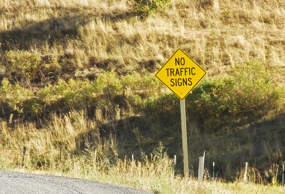 No Traffic Signboard