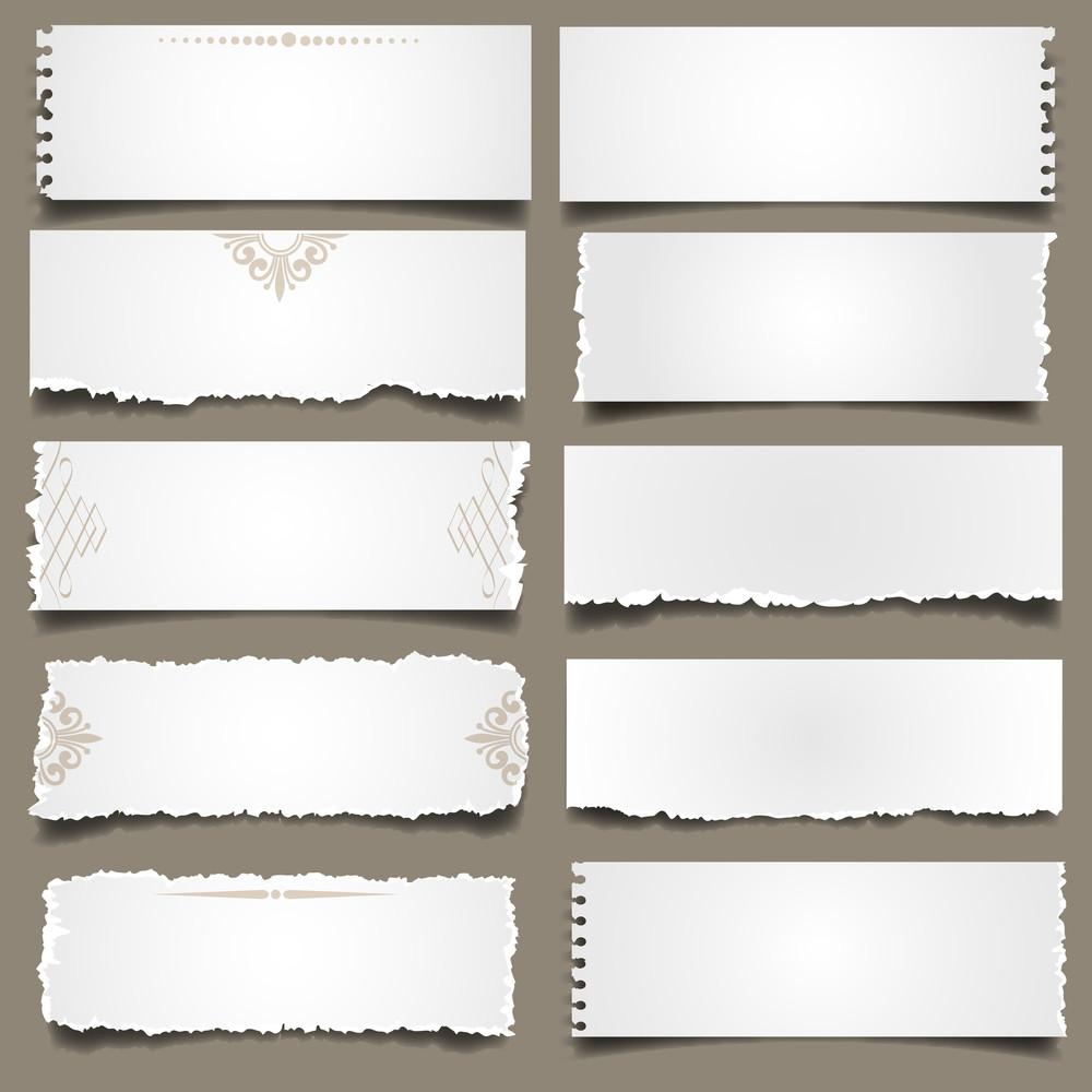 Note Paper Pieces
