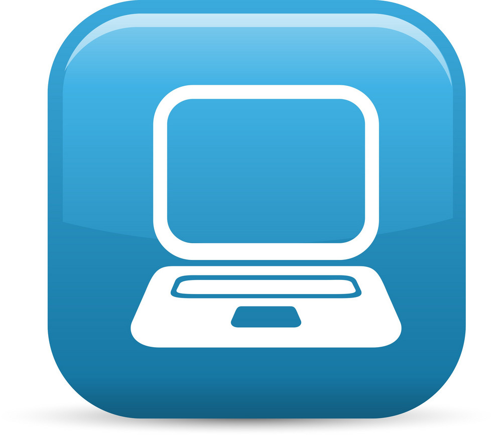Notebook Computer Elements Glossy Icon