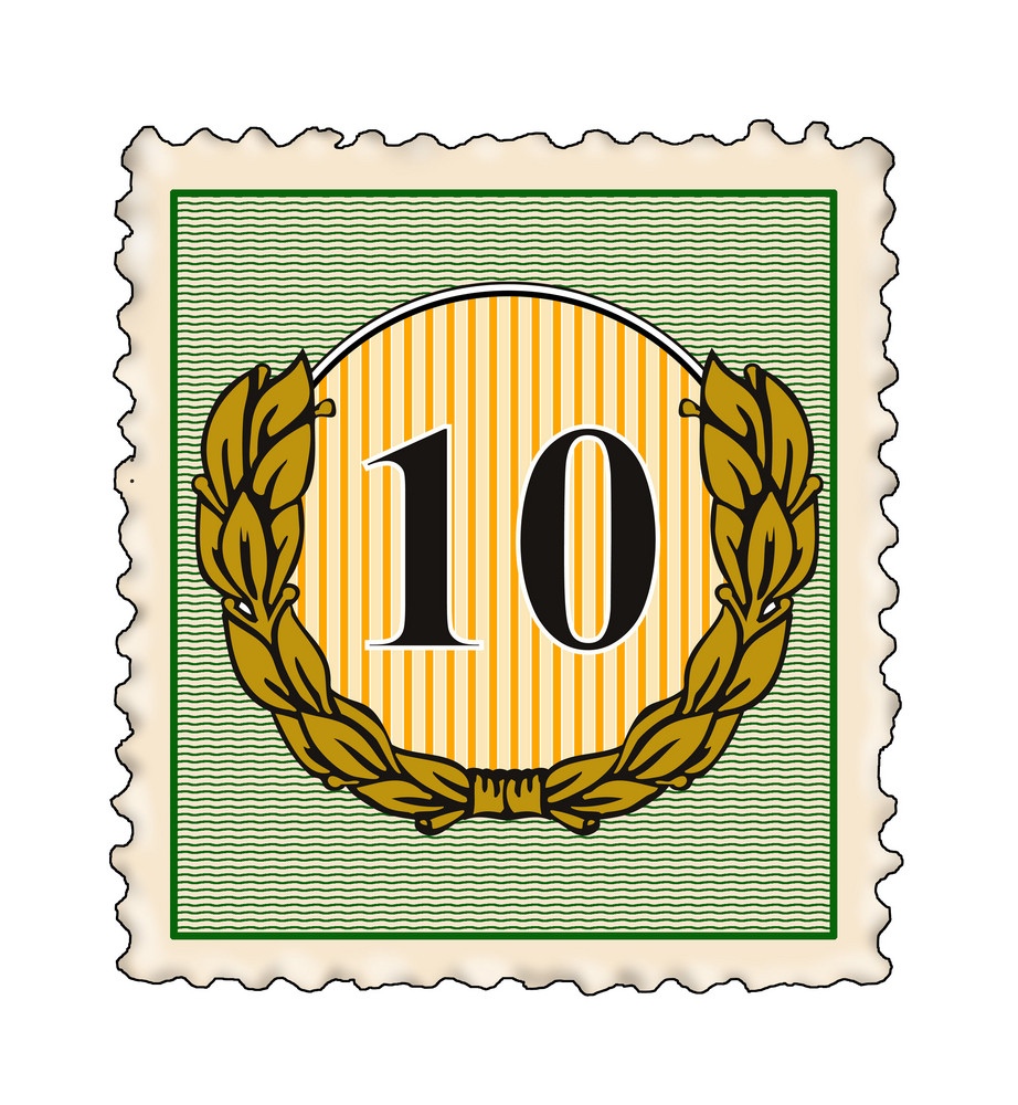 Number 10 In Stamp