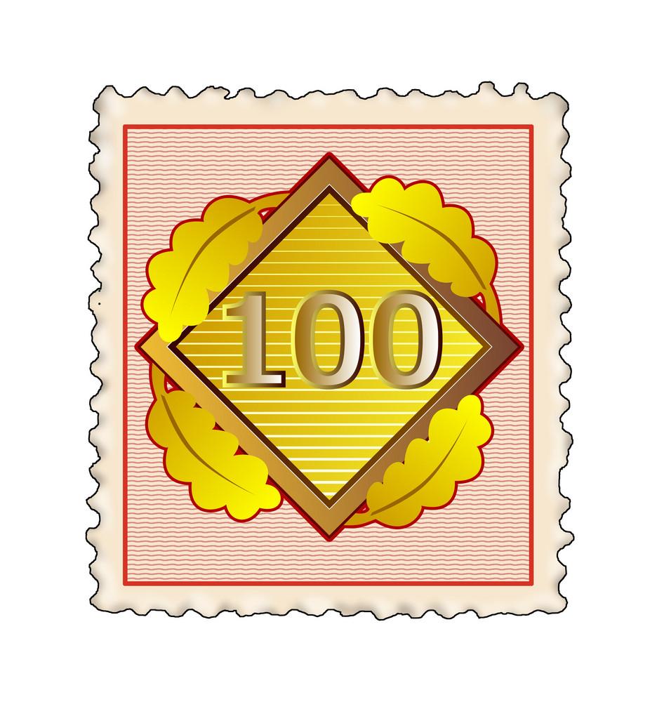 Number 100 Diamond Stamp
