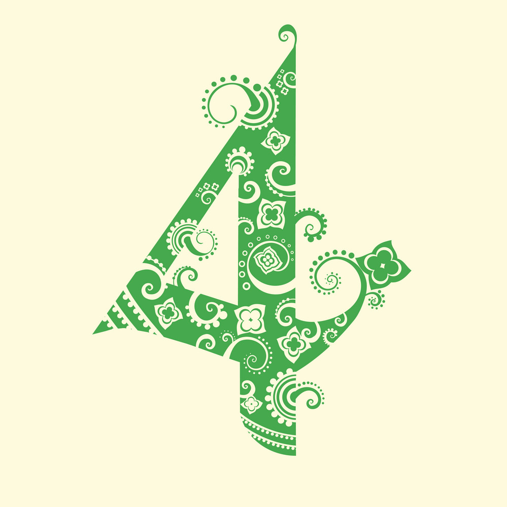 Number Four In Green