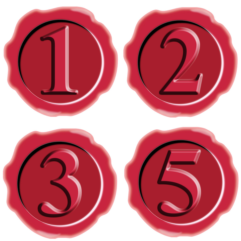 Number Icon Seal Wax