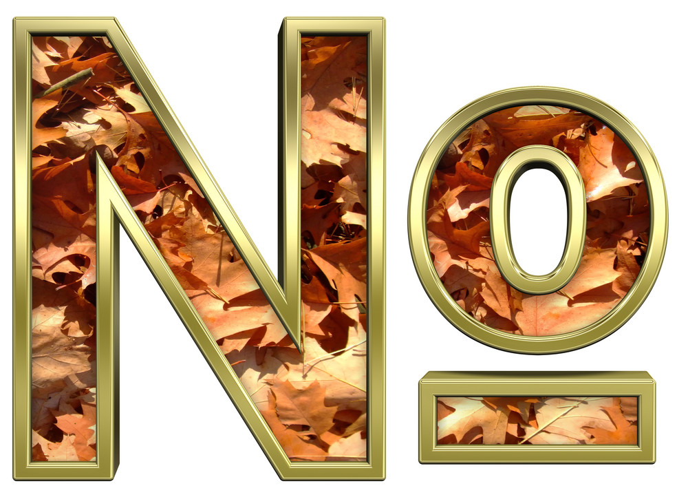Number Mark From Autumn Gold Alphabet Set