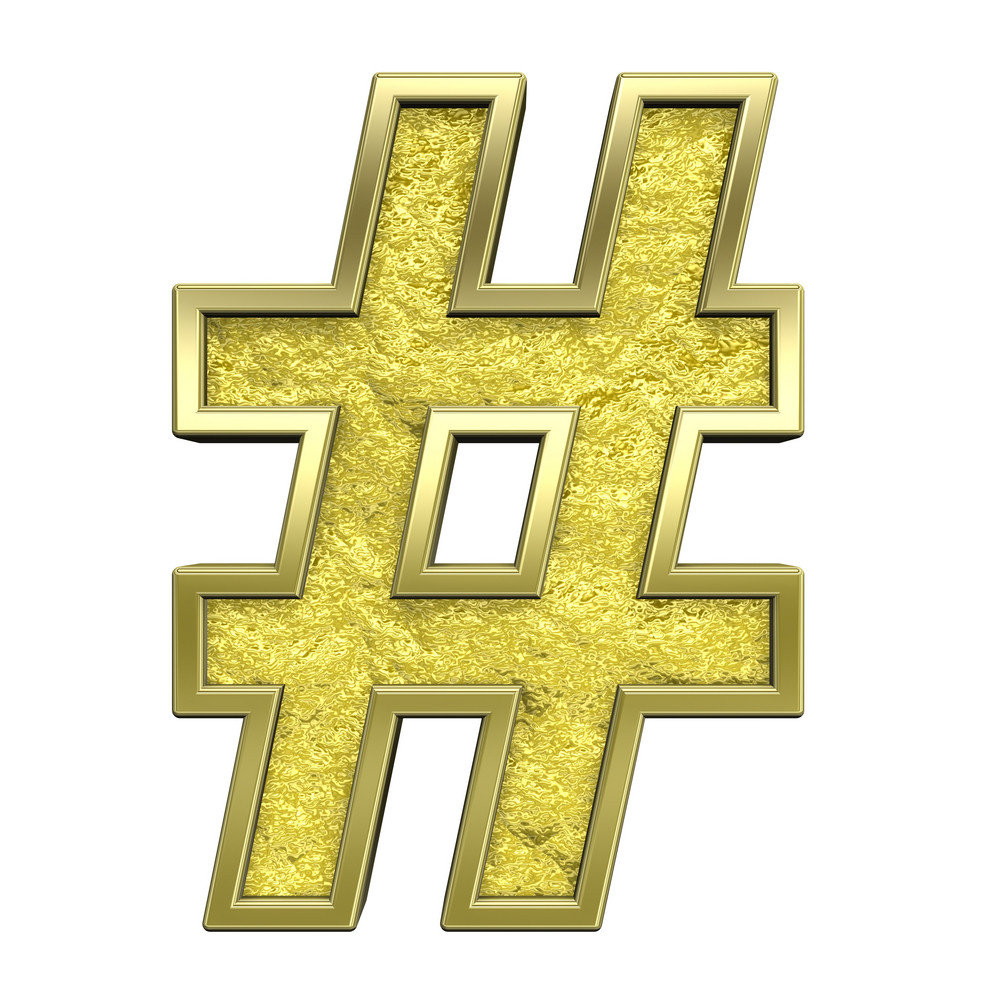 Number Mark From Gold Cast Alphabet Set