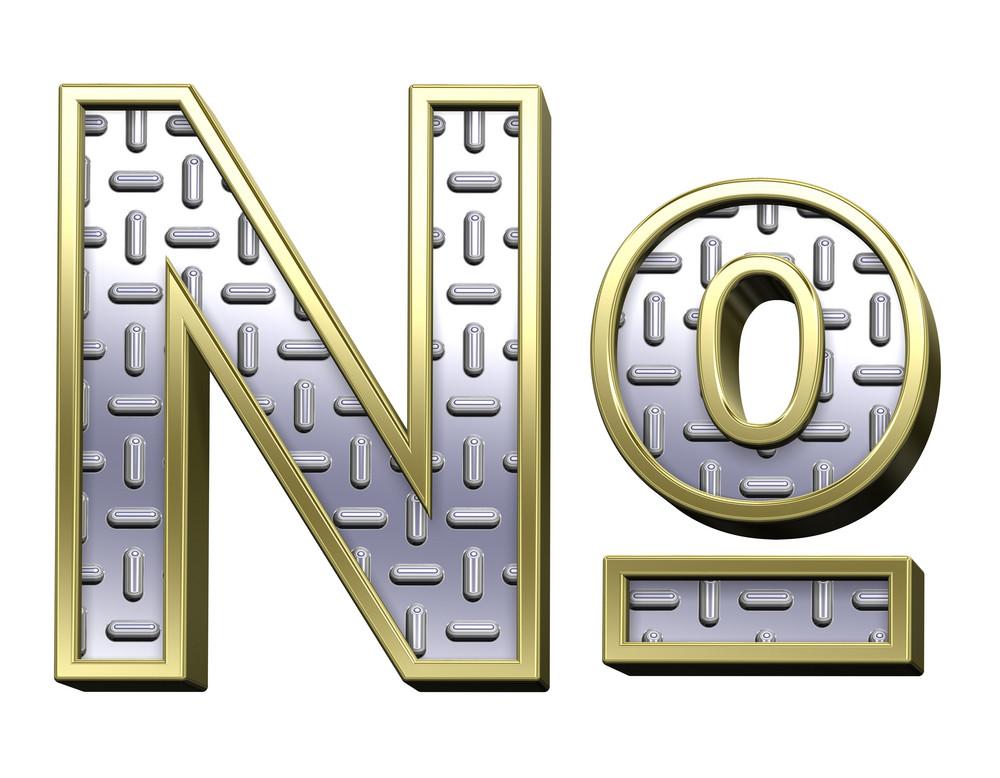 Number Mark From Steel Tread Plate Alphabet Set