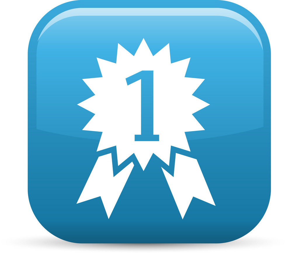 Number One Award Elements Glossy Icon