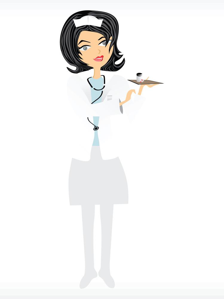 Nurse Doing Her Job