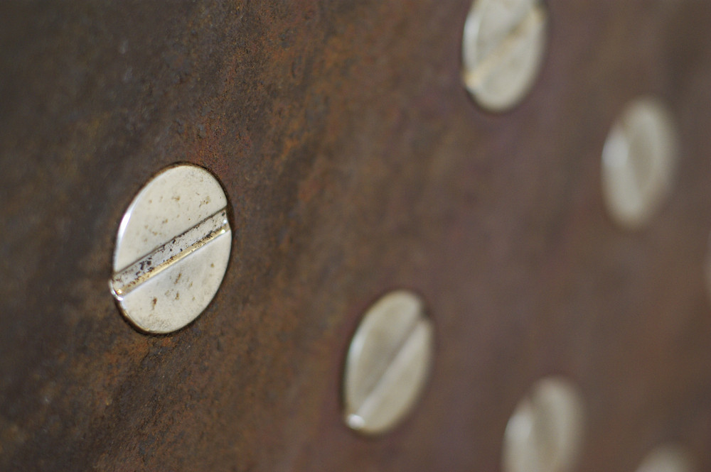 Nut on rust texture