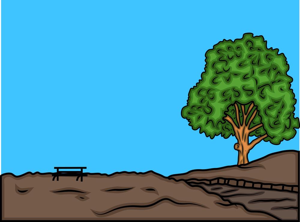 Oak Tree Vector Landscape