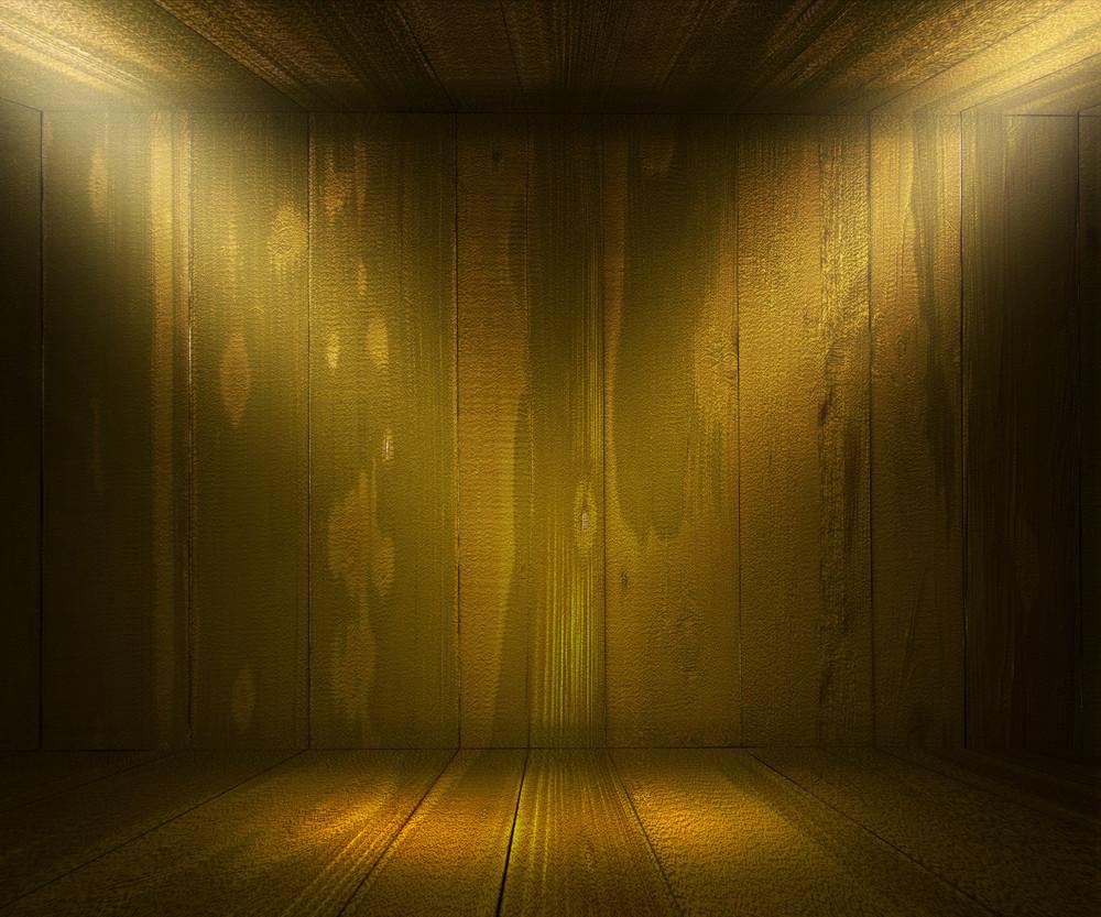 Oak Wooden Spotlight Room Background