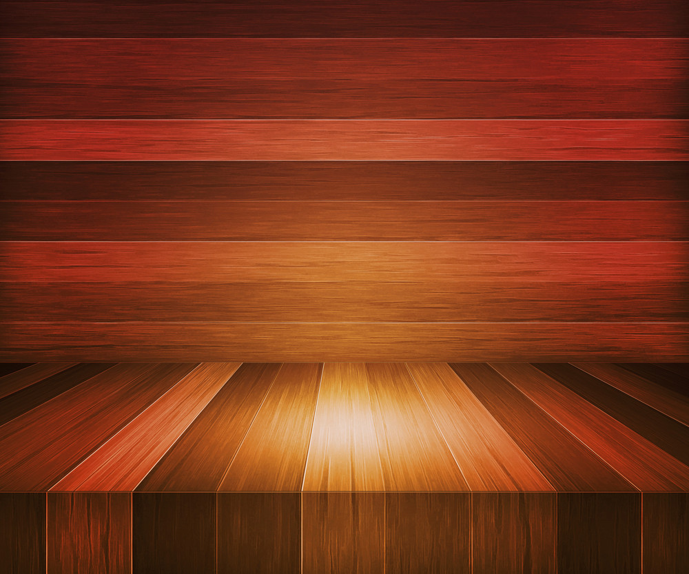 Oak Wooden Stage Background