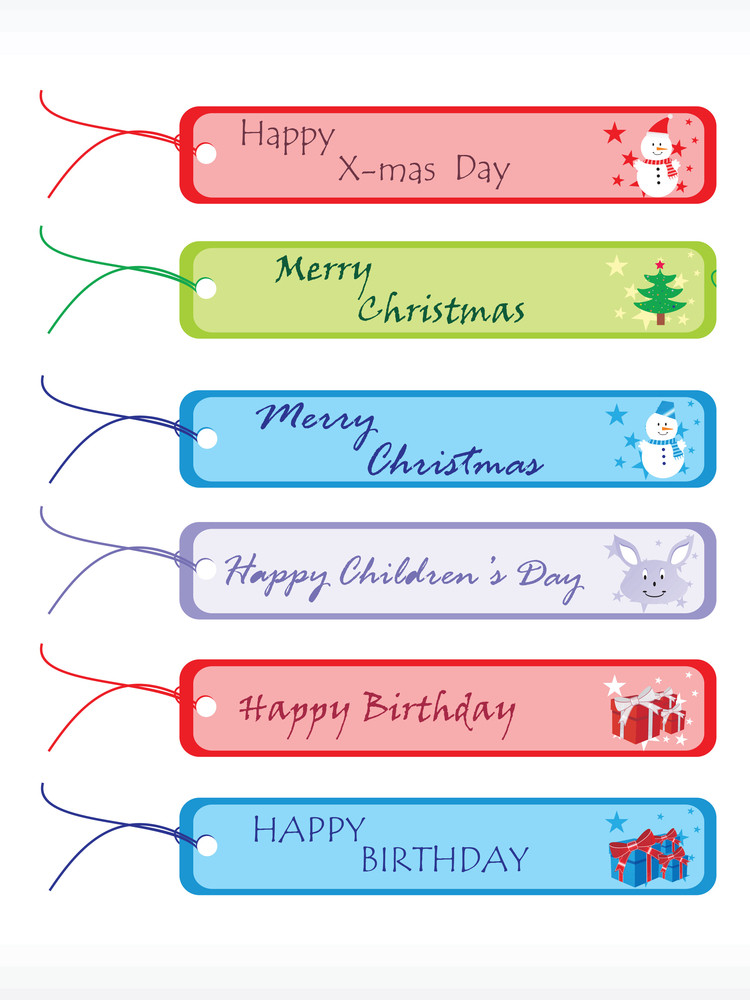 Ocasional Vector Gift Tags Set 1
