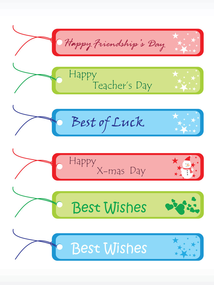 Ocasional Vector Gift Tags Set 3