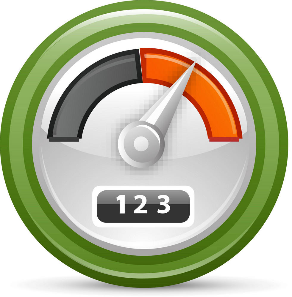 Odometer Lite Plus Icon Royalty-Free Stock Image