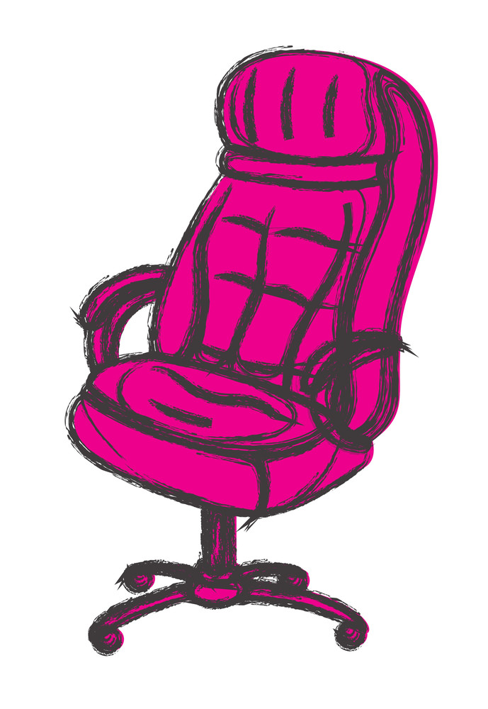 Office Chair Vector Sketching