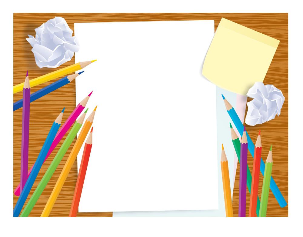 Office Creative Business Desktop. Vector Template.