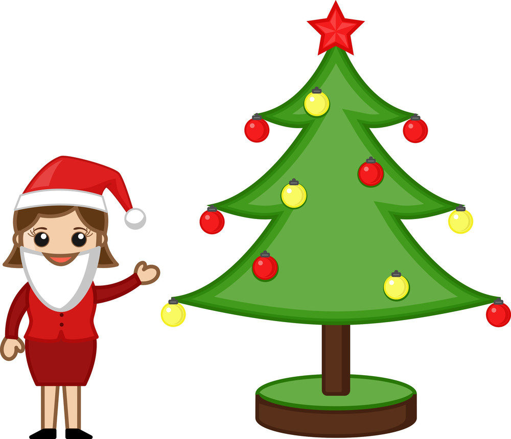 Christmas Celebration Cartoon Images.Office Executive Celebrating Christmas Cartoon Business