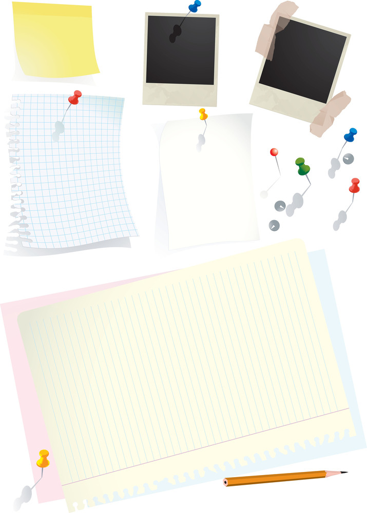 Office Reminders. Detailed Vector Illustration
