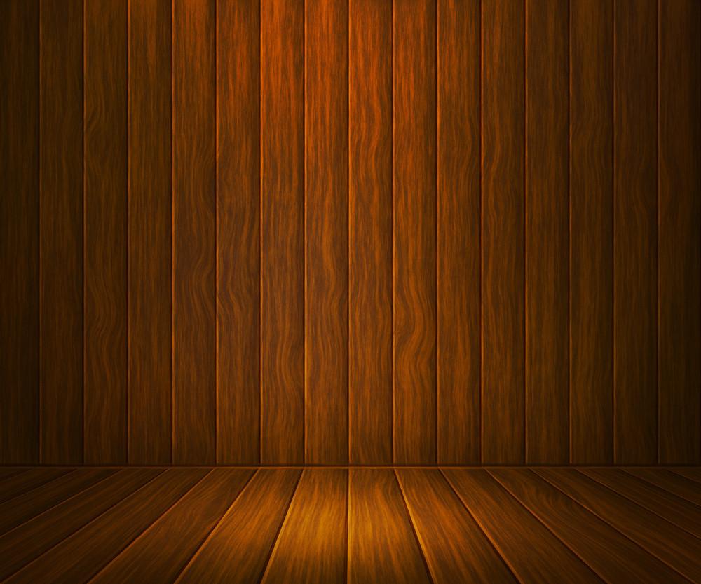 Oke Wooden Room Background