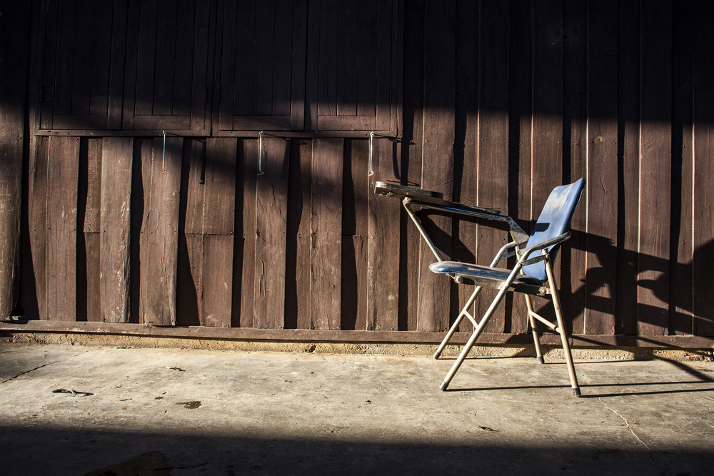 Old chair with lighting