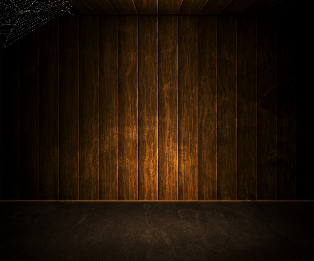 Old Dark Wooden Room Background