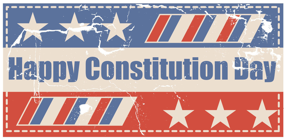 Old Grunge Usa Flag Style  Constitution Day Vector Illustration