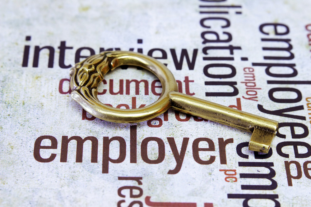 Old Key On Employer Text