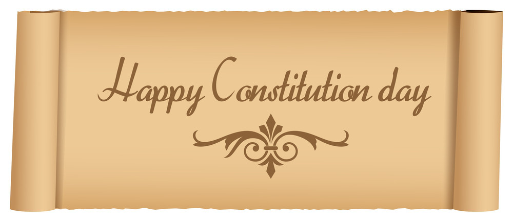 Old Message Constitution Day Vector Illustration