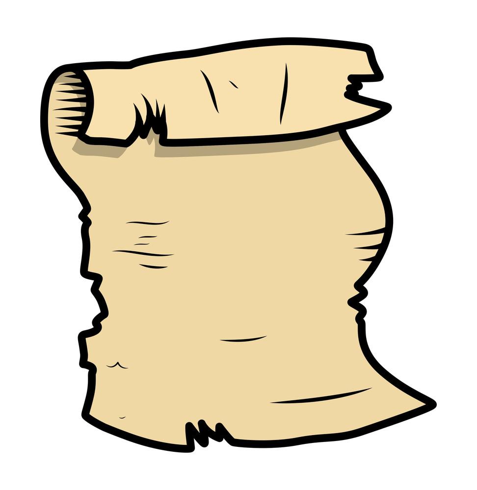 Old Parchment Cartoon Illustration